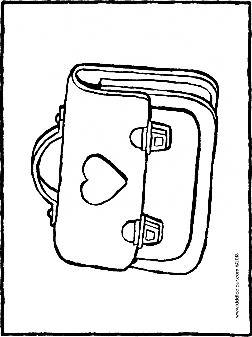 school bag colouring page drawing picture 01H