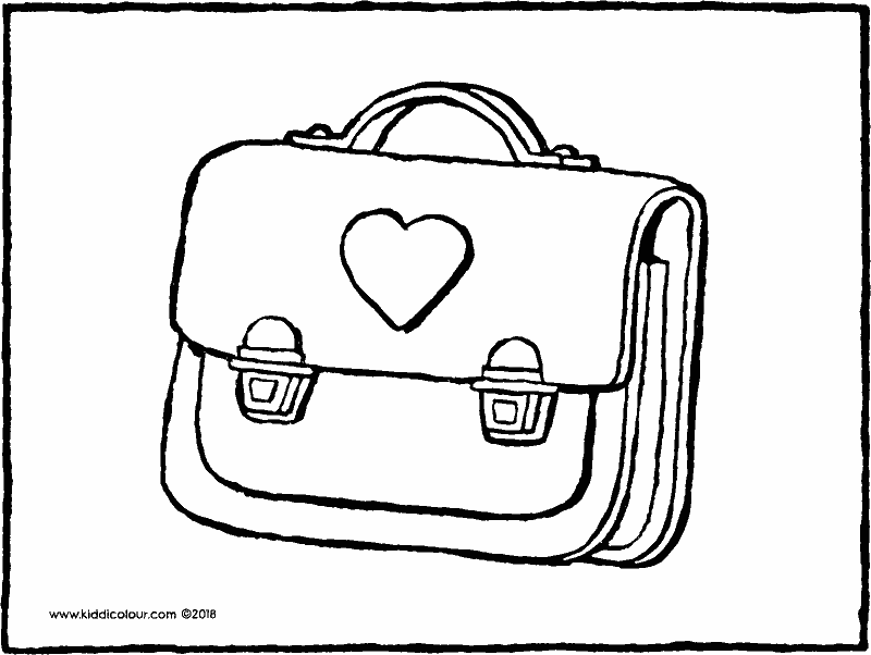 school bag colouring page drawing picture 01k