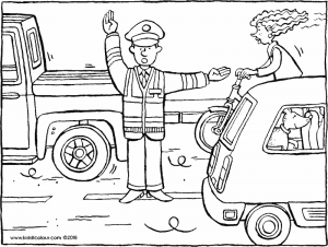 traffic officer directing the traffic