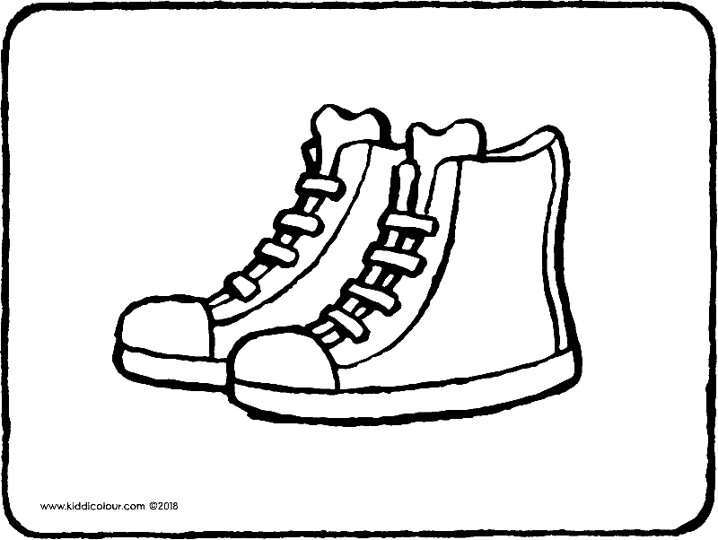 sneakers colouring page drawing picture 01k