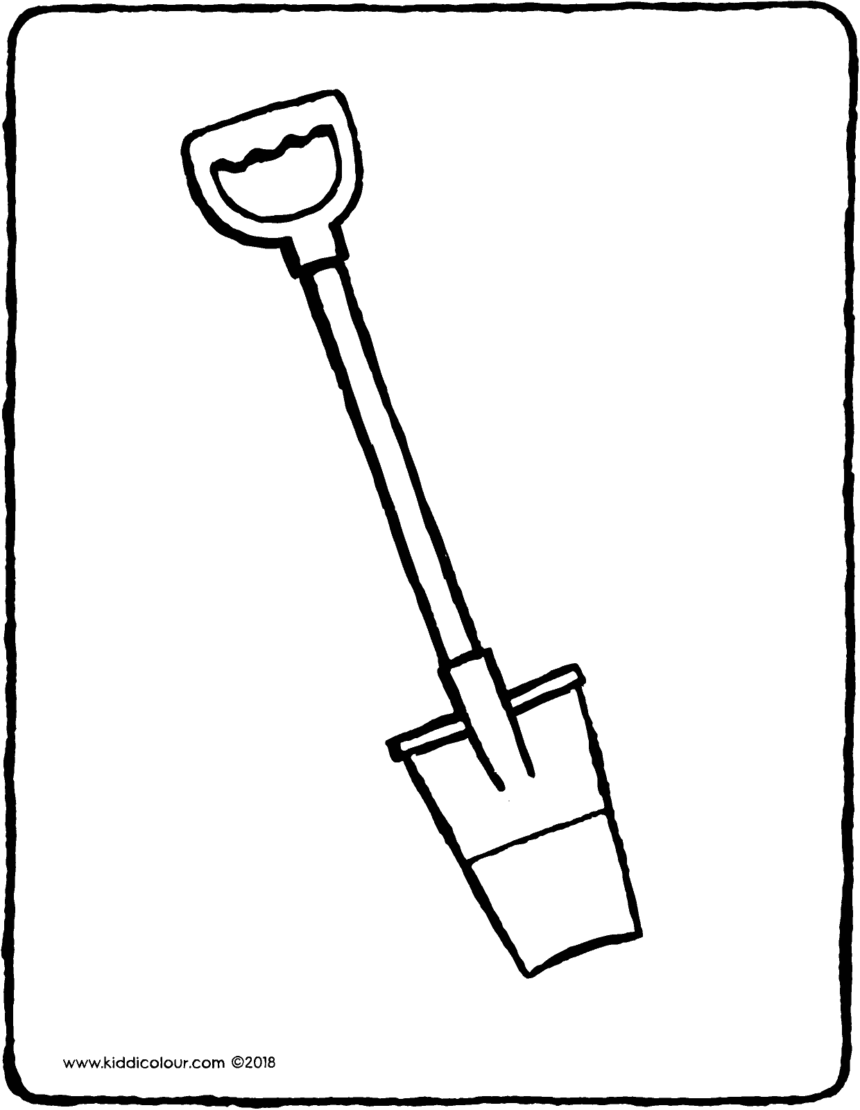 spade colouring page drawing picture 01V