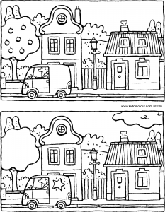 spot the 5 differences in this street