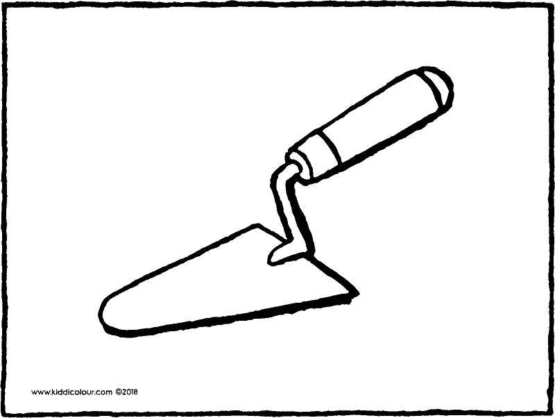 trowel colouring page drawing picture 01k