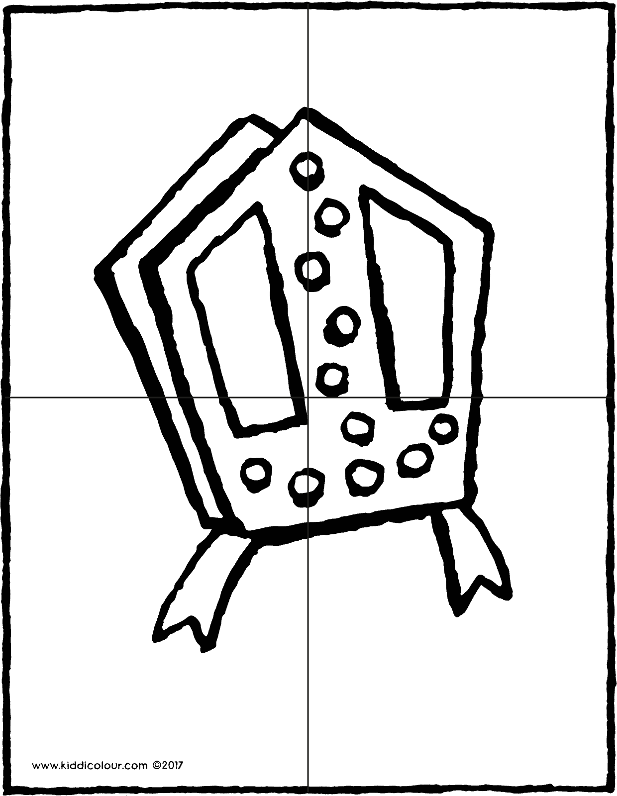 Saint Nicholas' mitre puzzle colouring page drawing picture 01V