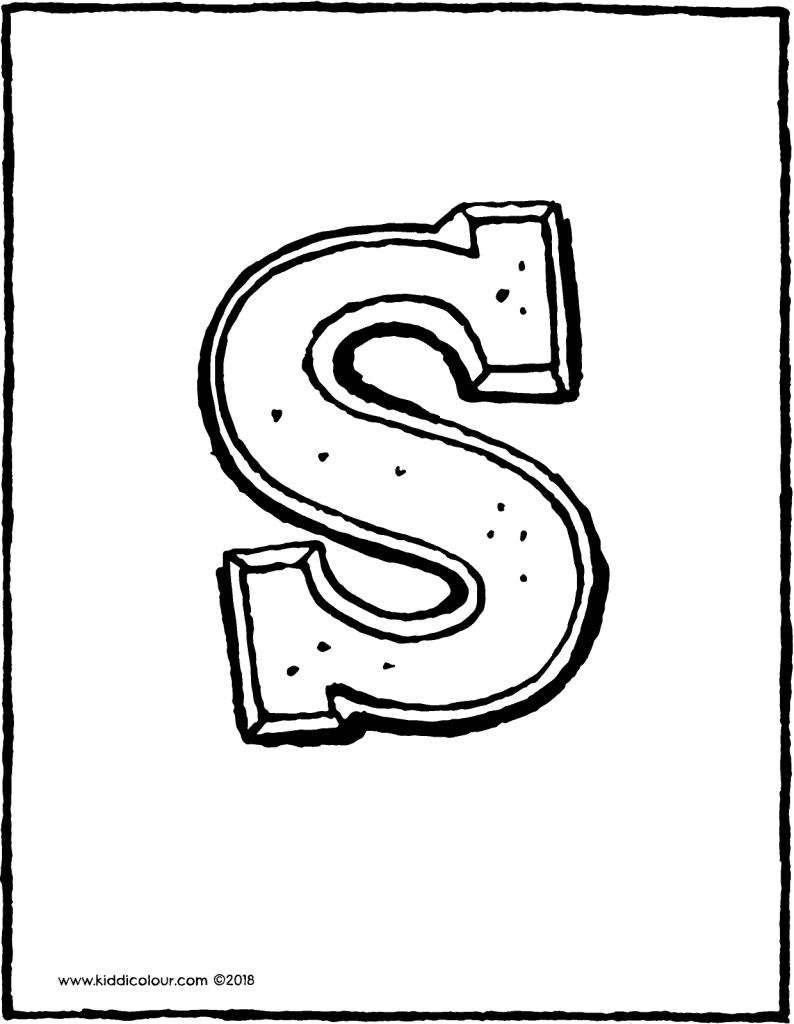 chocolate letter Saint Nicholas colouring page drawing picture 01V