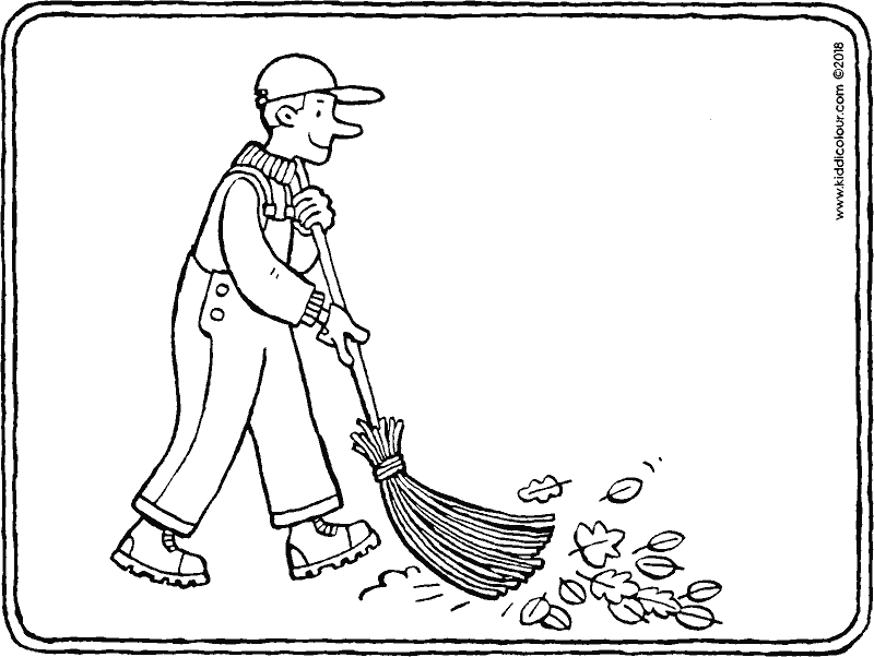 street sweeper colouring page drawing picture 01k