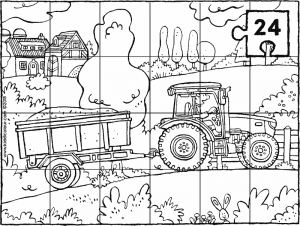 tractor and trailer puzzle