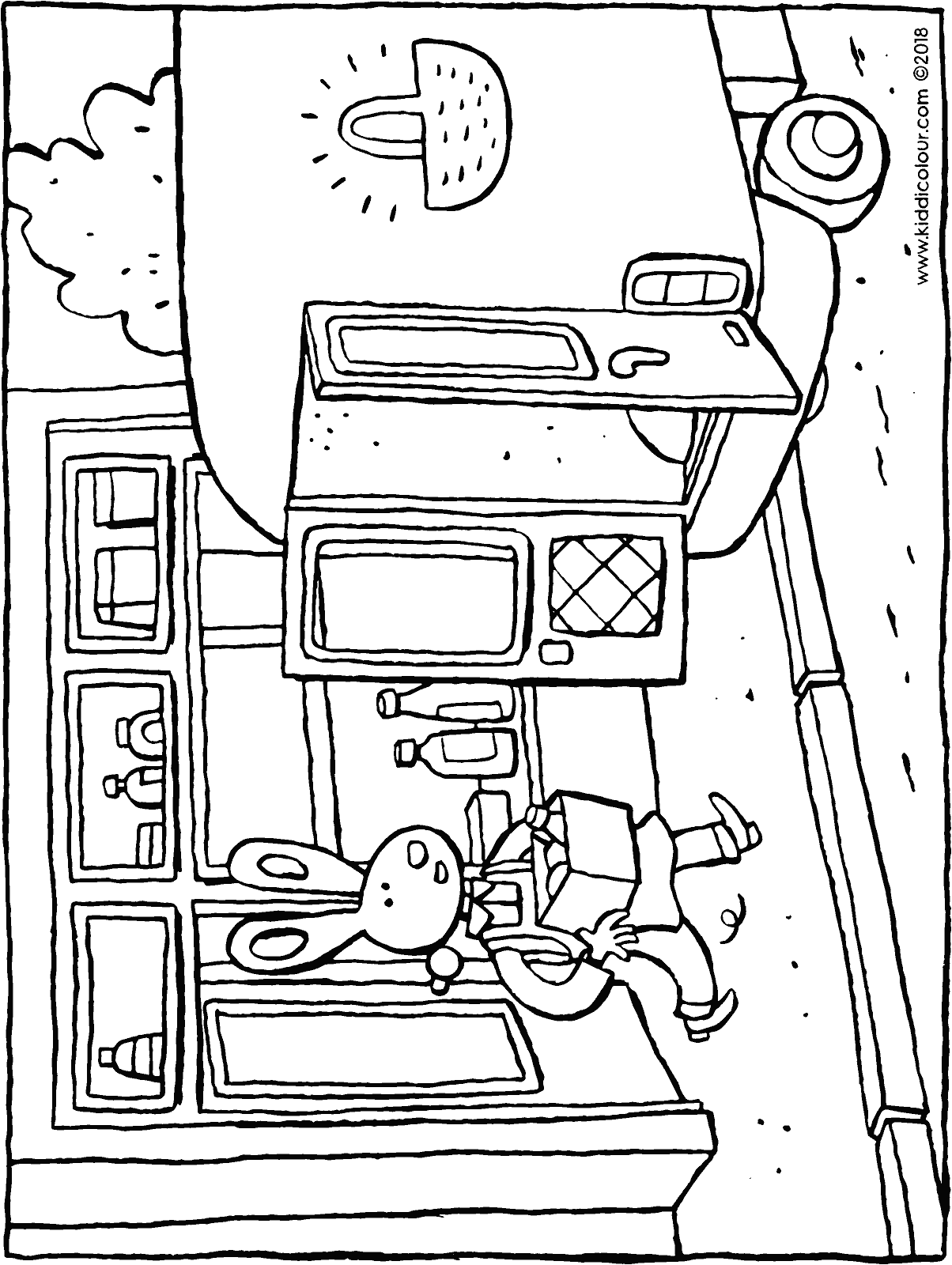 Boris's shop colouring page drawing picture 01H