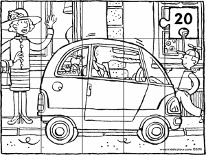 a small city car 20-piece puzzle