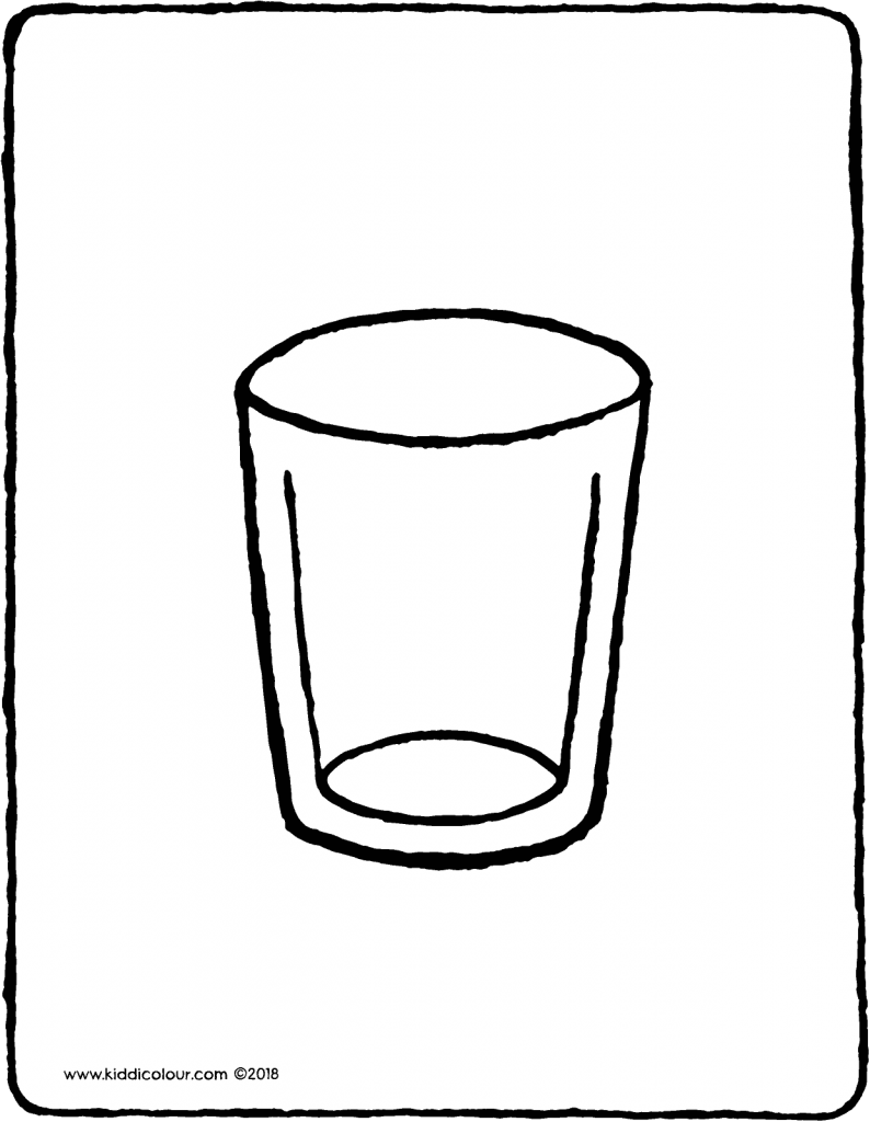 beaker colouring page drawing picture 01V