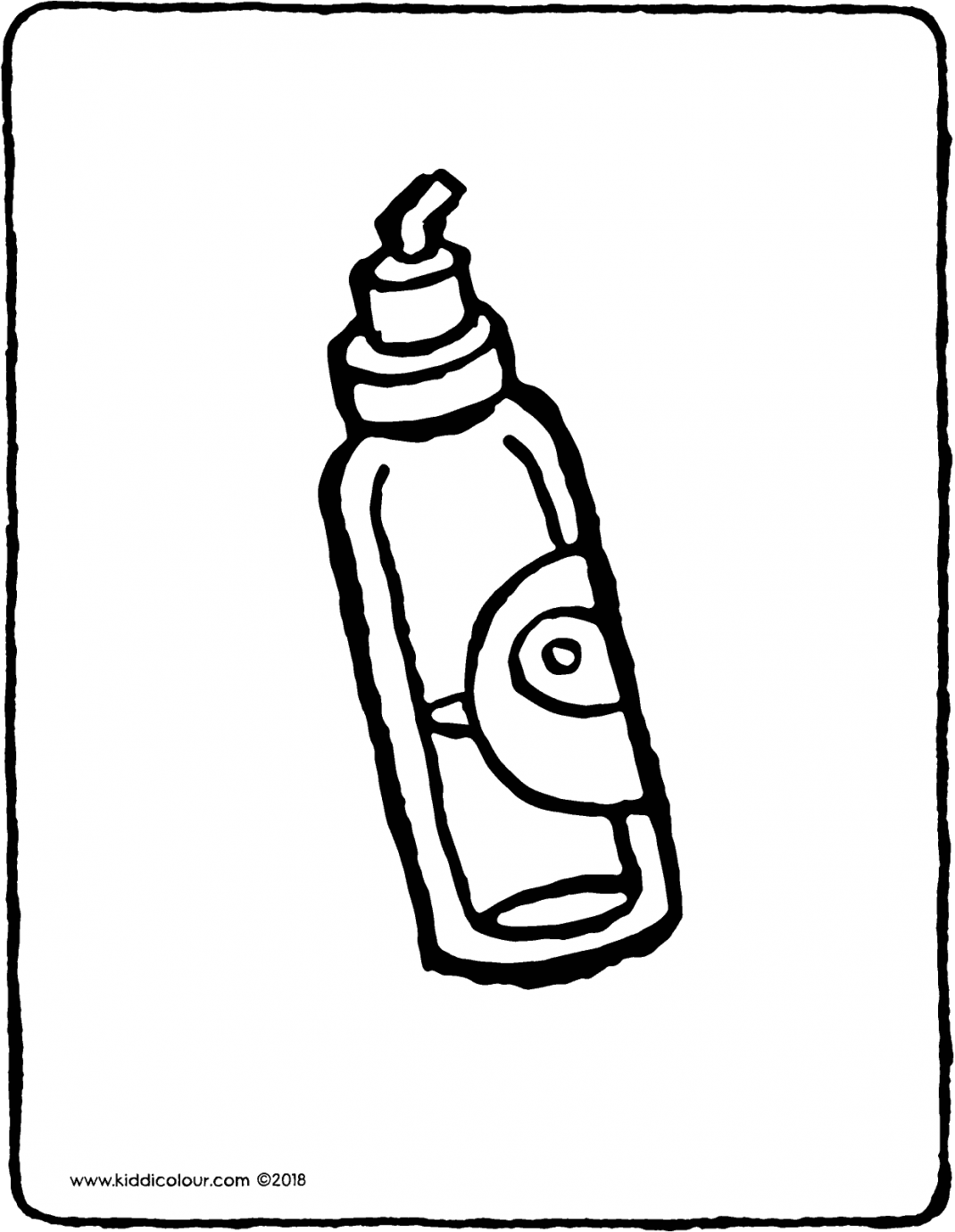 bottle of olive oil colouring page drawing picture 01V