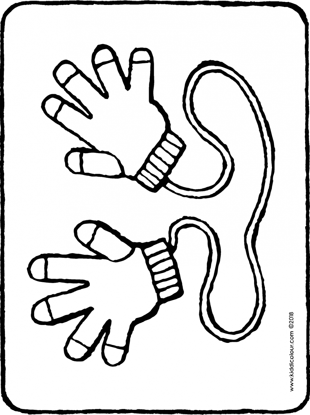 gloves colouring page drawing picture 01H