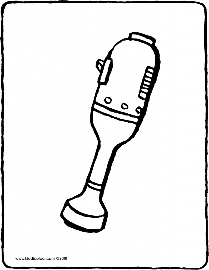 hand blender colouring page drawing picture 01V