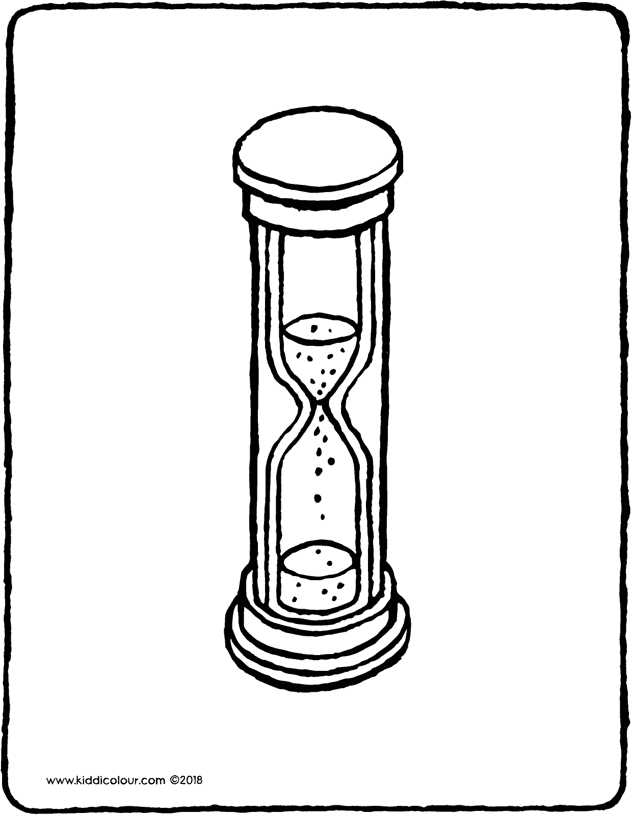 hourglass colouring page drawing picture 01V