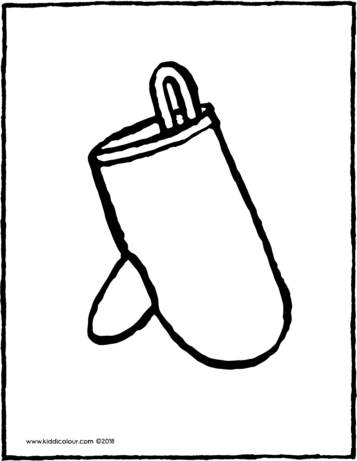 oven glove colouring page drawing picture 01V