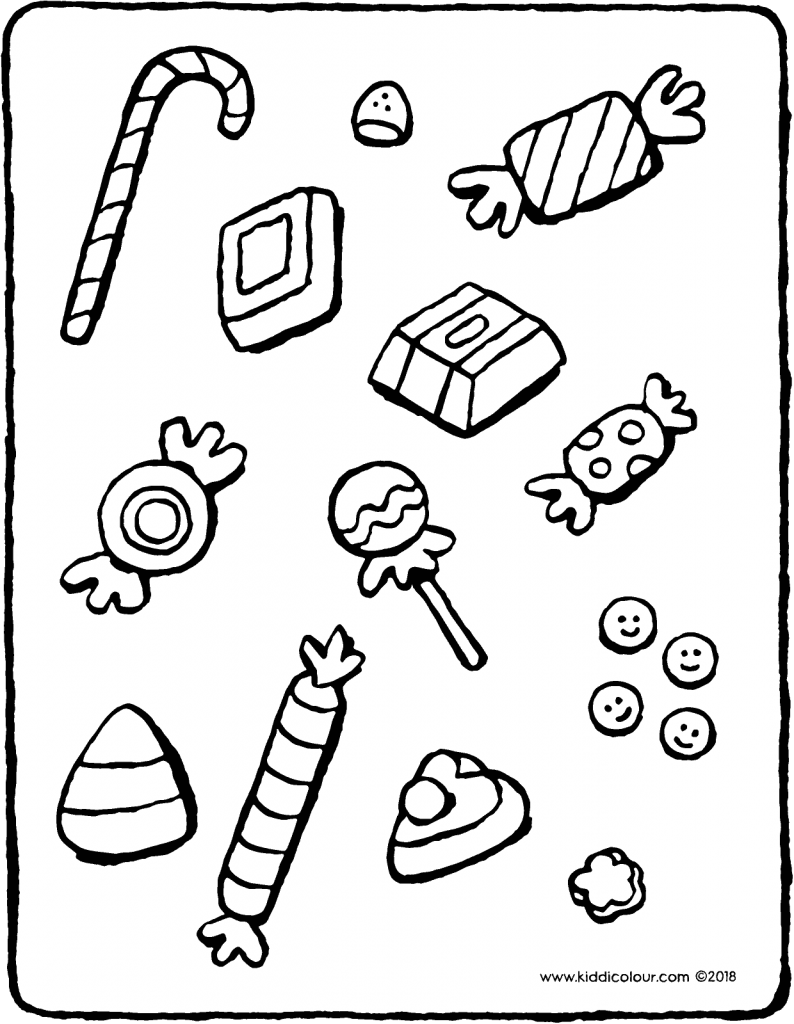 sweets colouring page drawing picture 01V