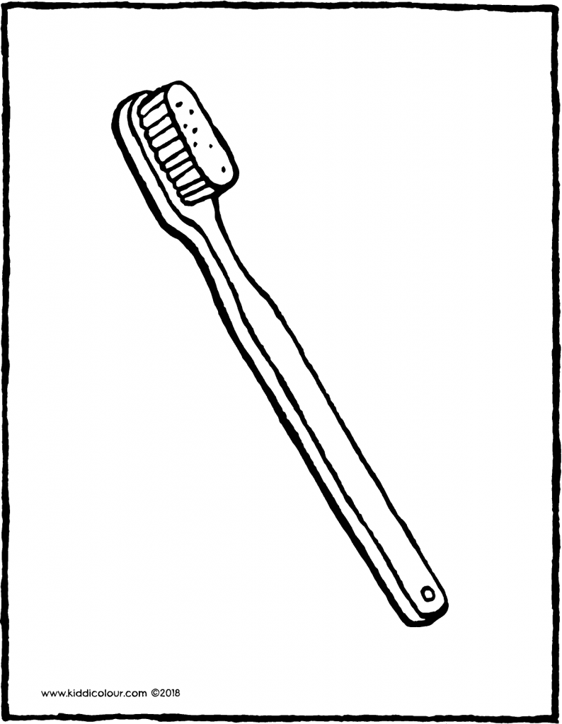 toothbrush colouring page drawing picture 01V