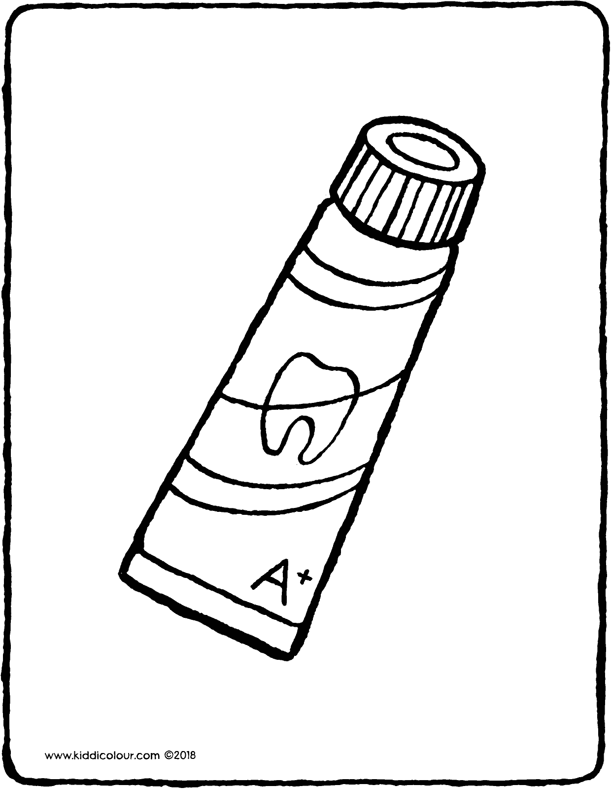 tube of toothpaste colouring page drawing picture 01V