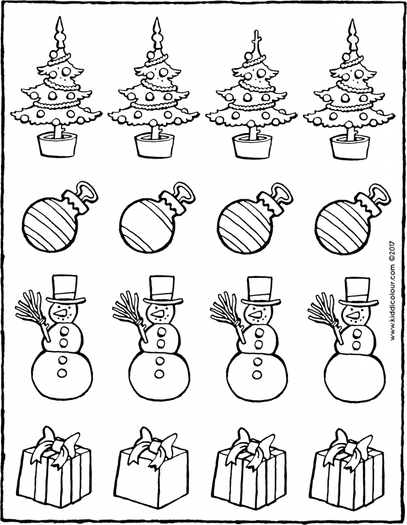 which object is different colouring page drawing picture 01V