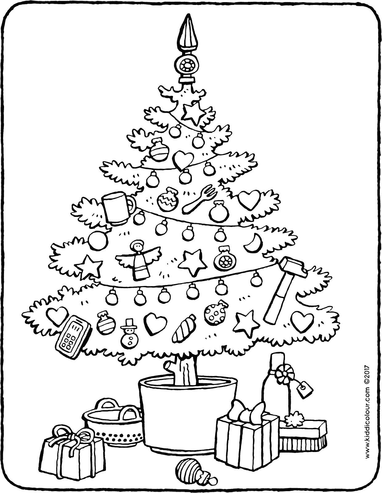 which objects don't belong in the christmas tree  kiddicolour