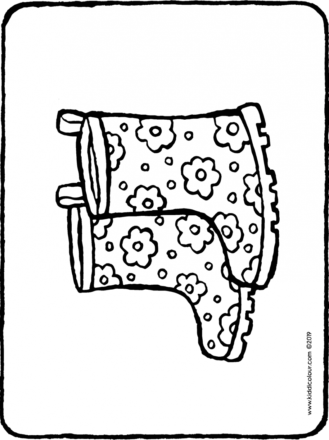 boots with flowers colouring page drawing picture 01H