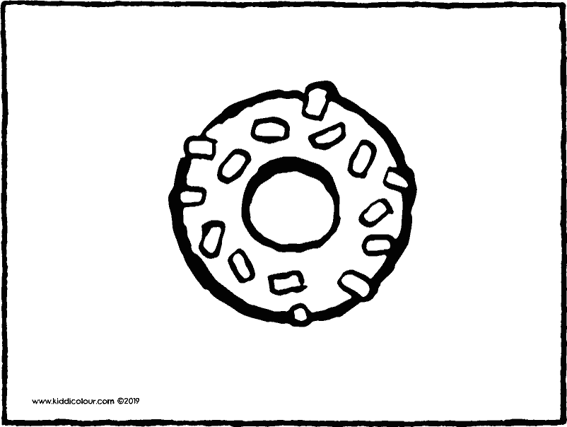 doughnut colouring page drawing picture 01k