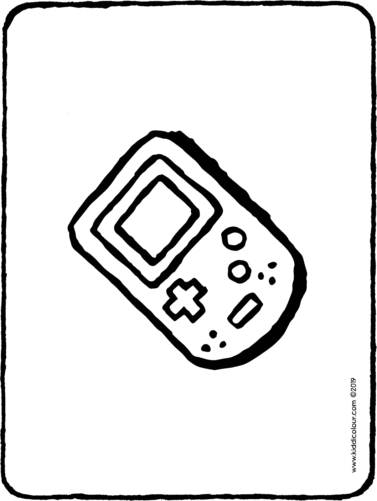 gameboy colouring page drawing picture 01H