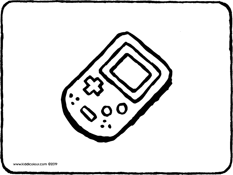 gameboy colouring page drawing picture 01k