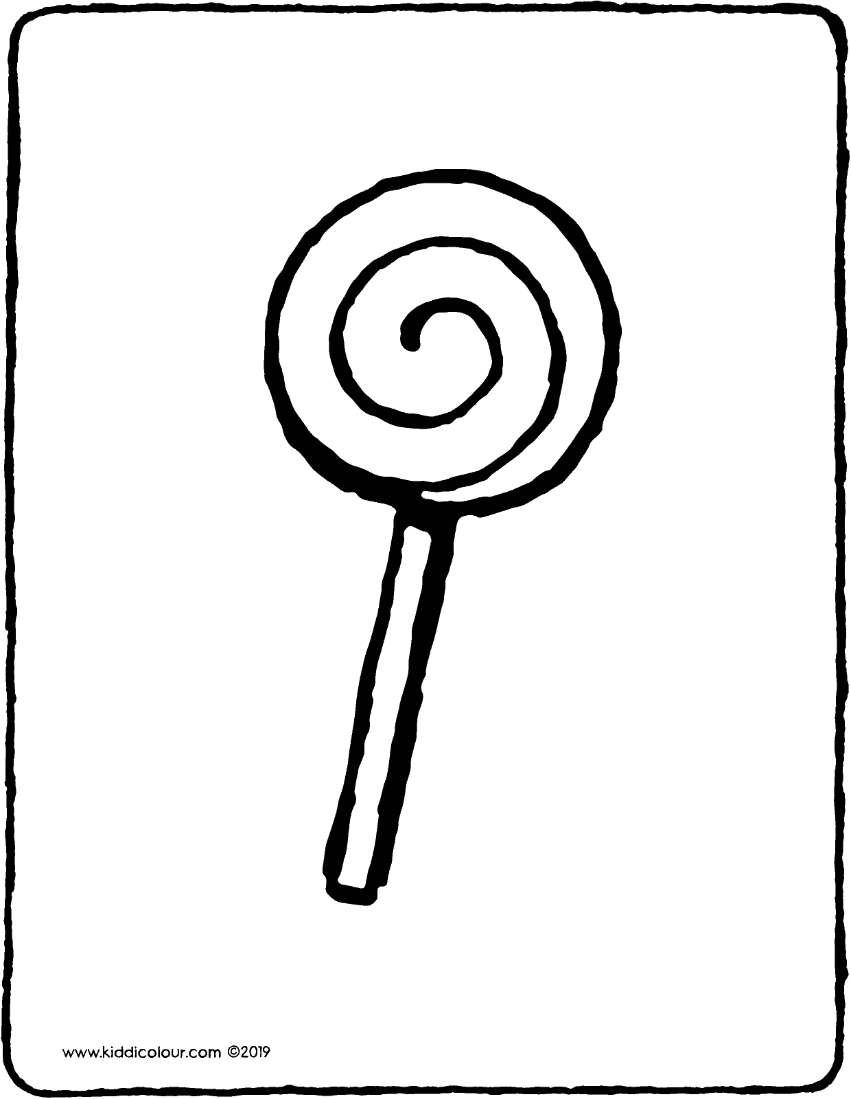 lolly colouring page drawing picture 01V