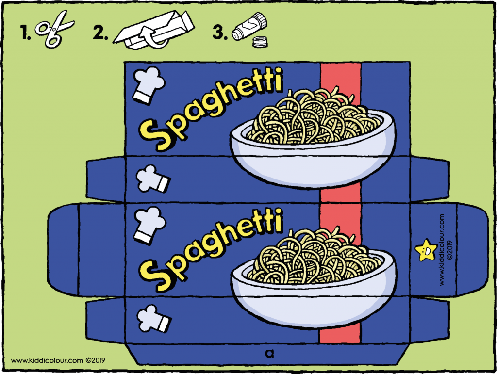 make your own spaghetti packet 01H