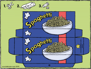make your own spaghetti packet