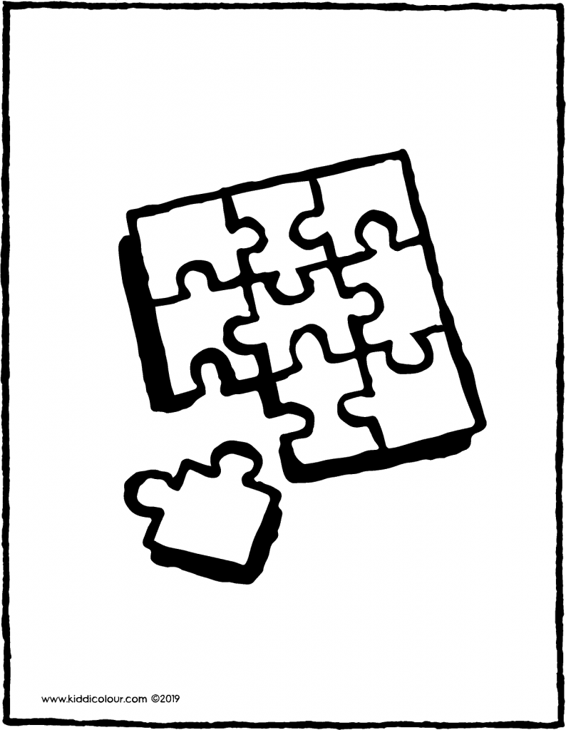 puzzle colouring page drawing picture 01V