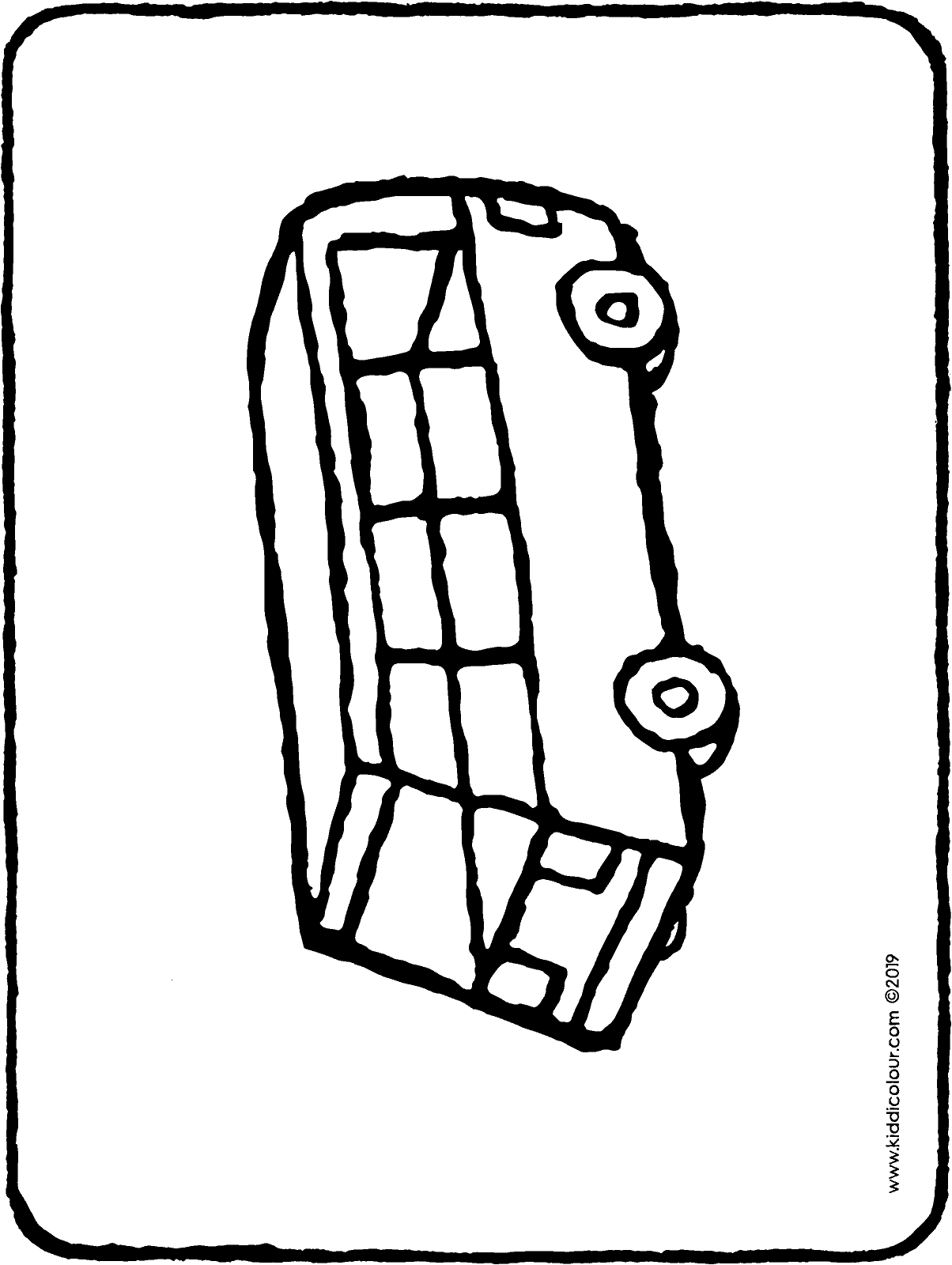 toy bus colouring page drawing picture 01H