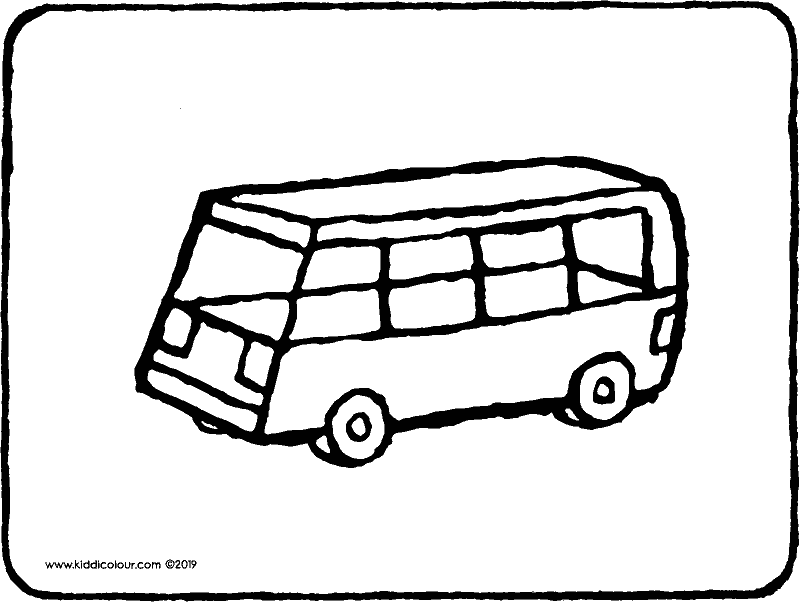toy bus colouring page drawing picture 01k