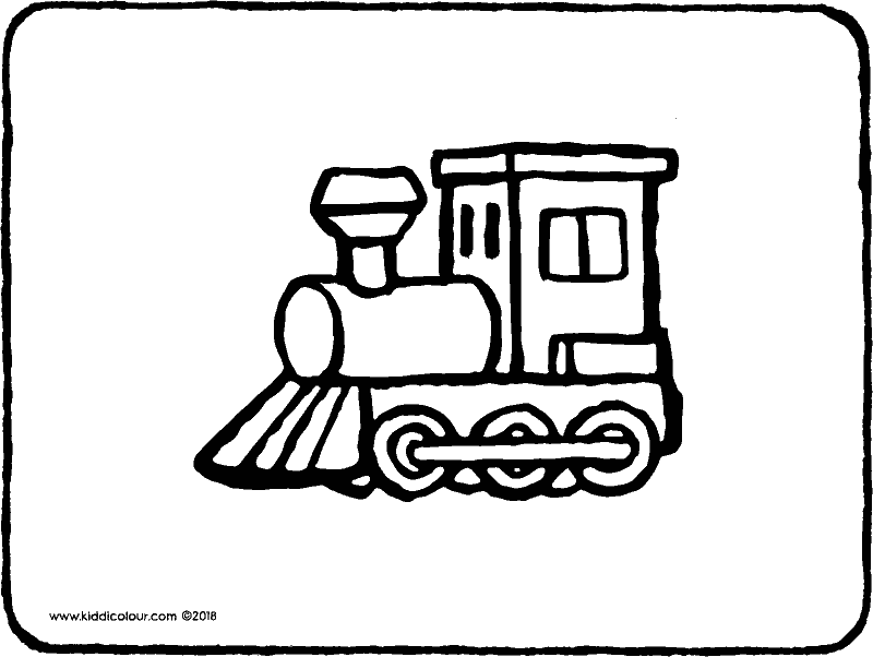 toy train colouring page drawing picture 01k