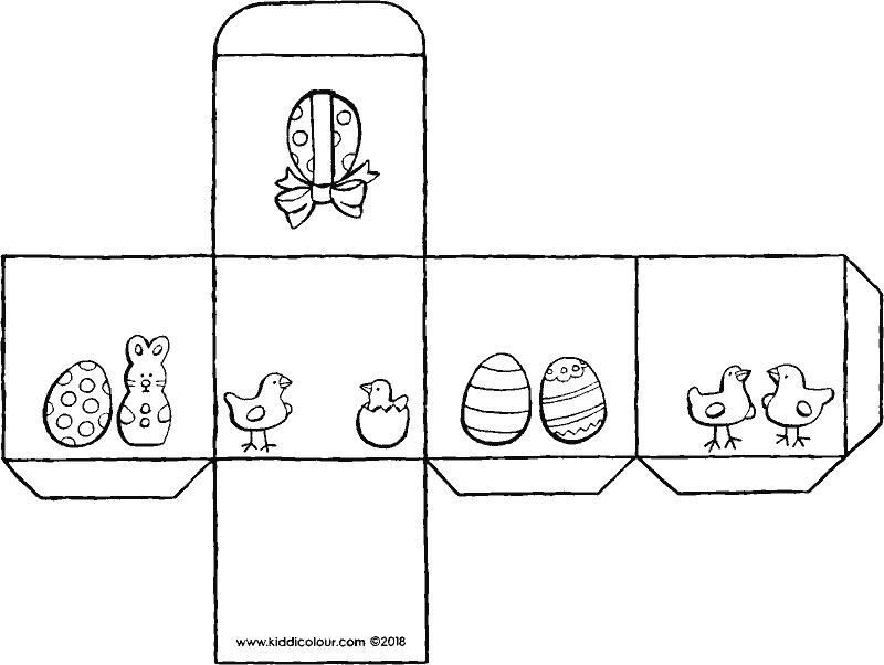 box for mini Easter eggs colouring page drawing picture 01k