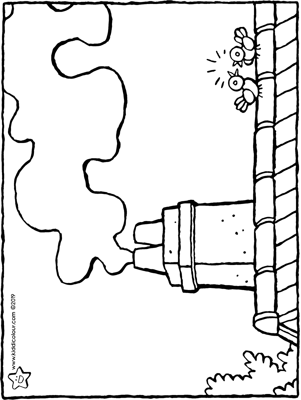 chimney colouring page drawing picture 01H