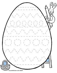 giant easter eggs with pencil control lines