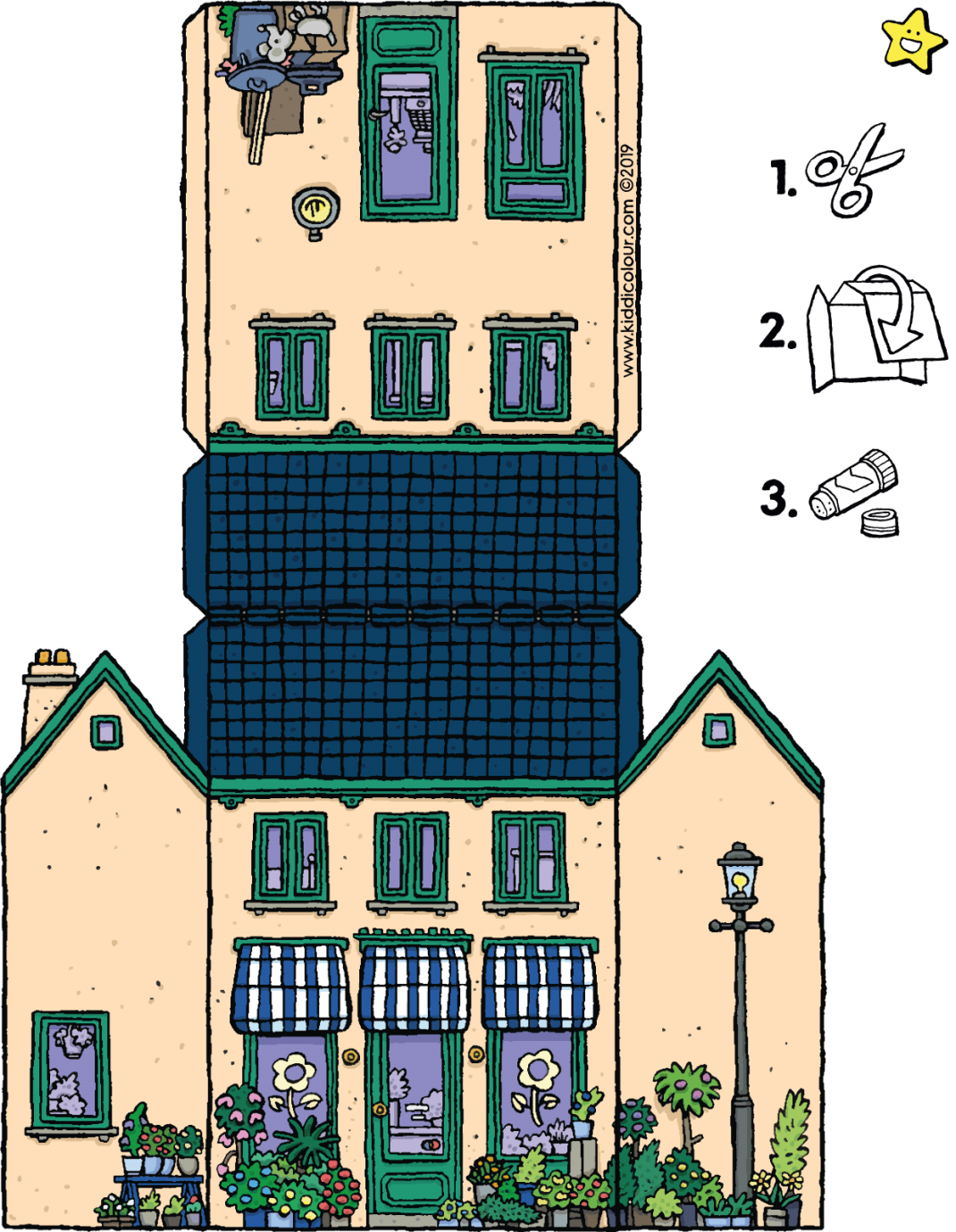 make your own florist shop colouring page drawing picture 01V