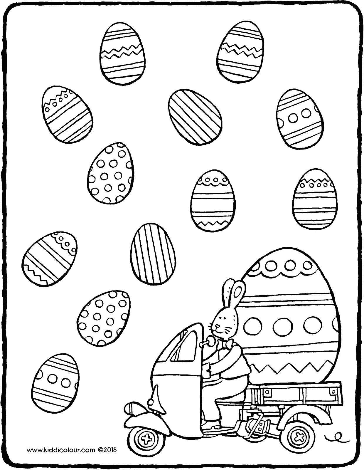 observation colour in the identical easter eggs colouring page drawing picture 01V