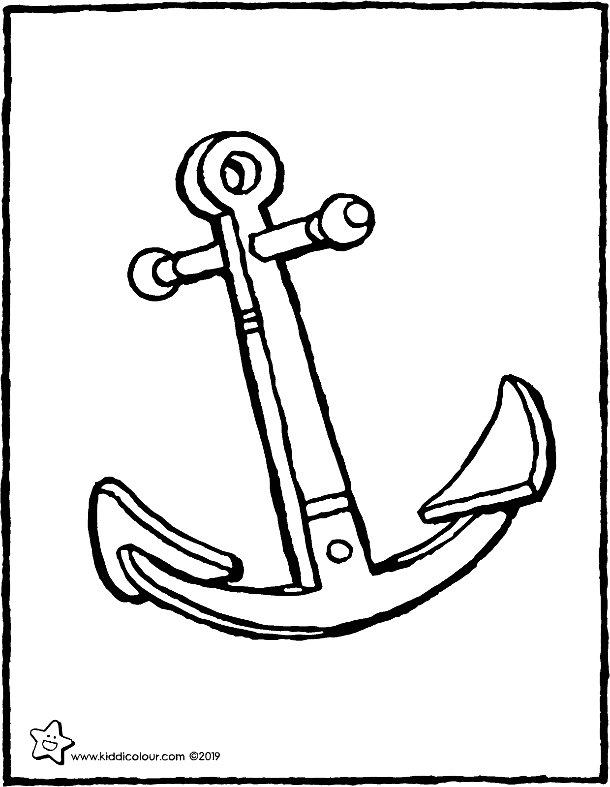 anchor colouring page drawing picture 01V