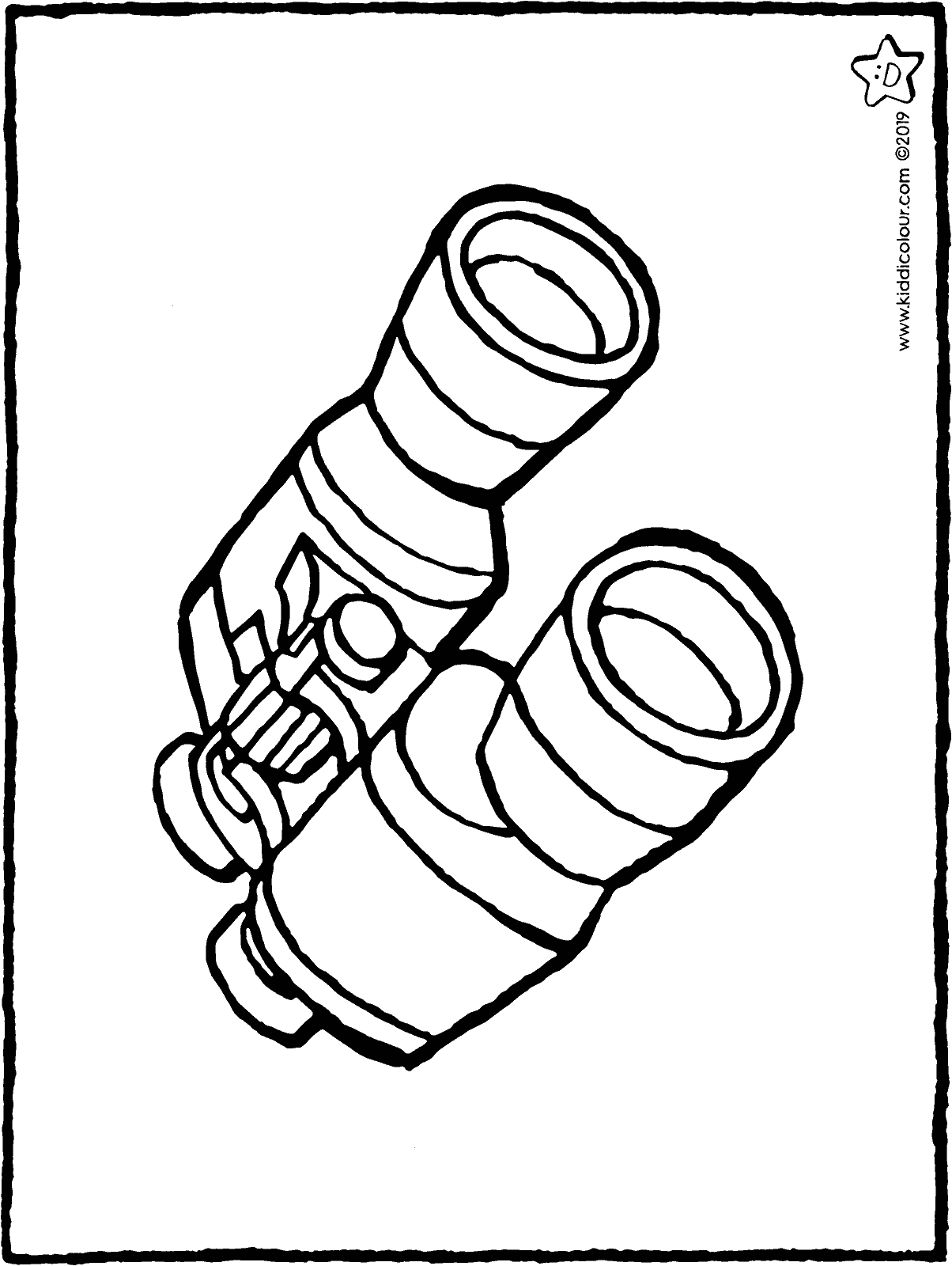 binoculars colouring page drawing picture 01H