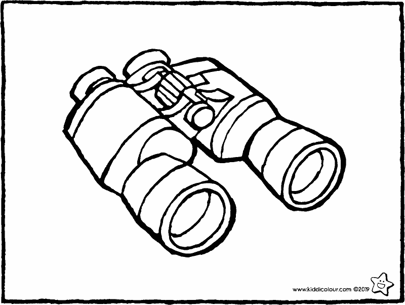 binoculars colouring page drawing picture 01k