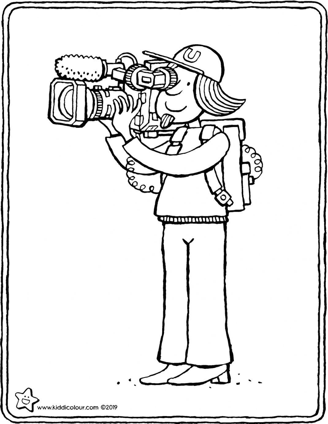 cameraman colouring page drawing picture 01V