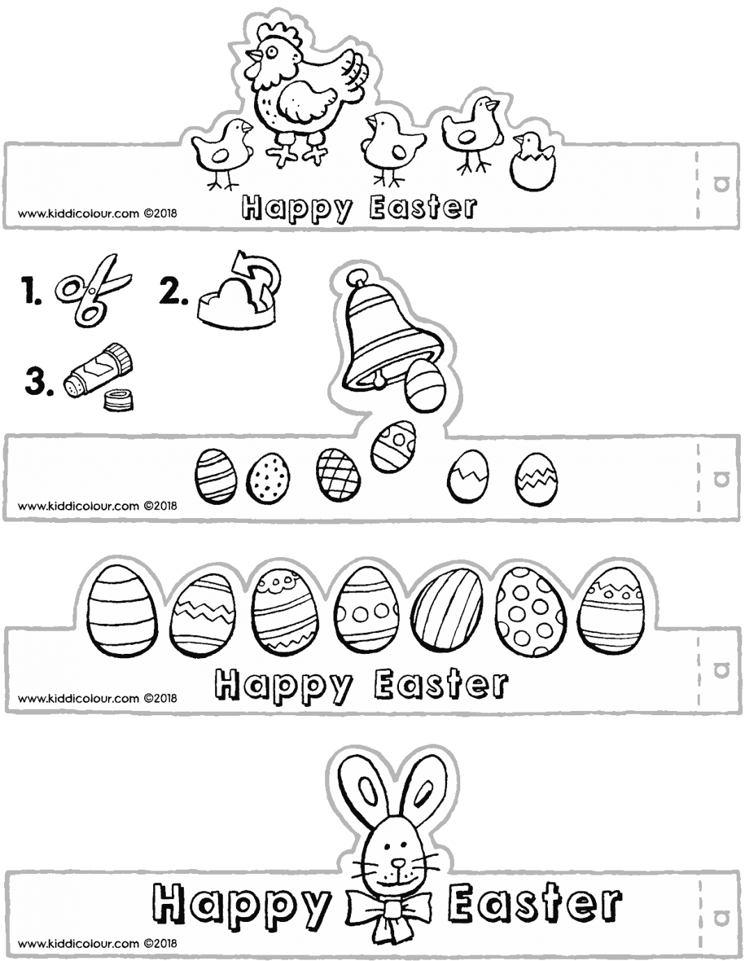 make your own Easter egg holders colouring page drawing picture 01V