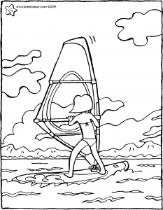 Emma goes windsurfing