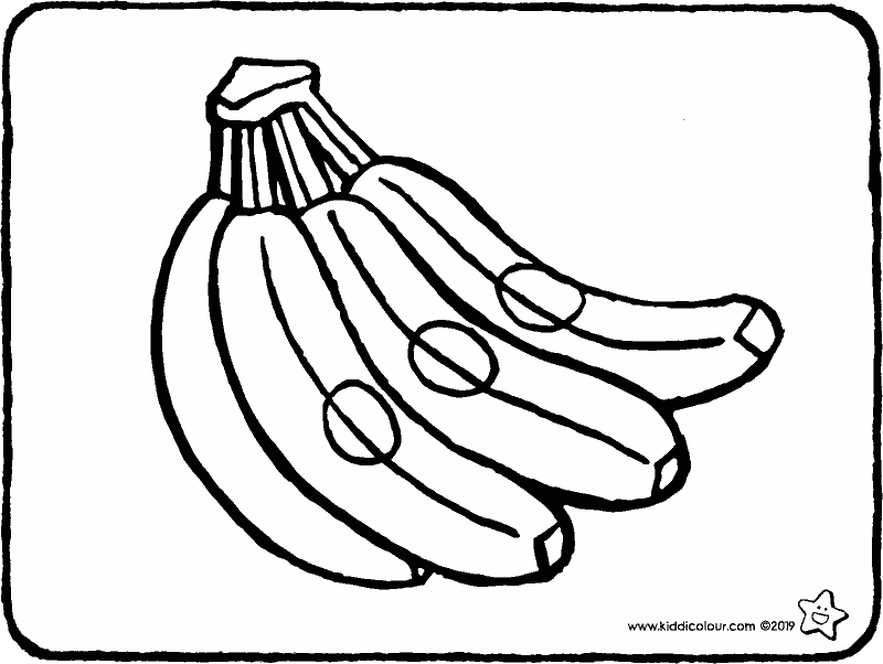 a bunch of bananas colouring page drawing picture 01k