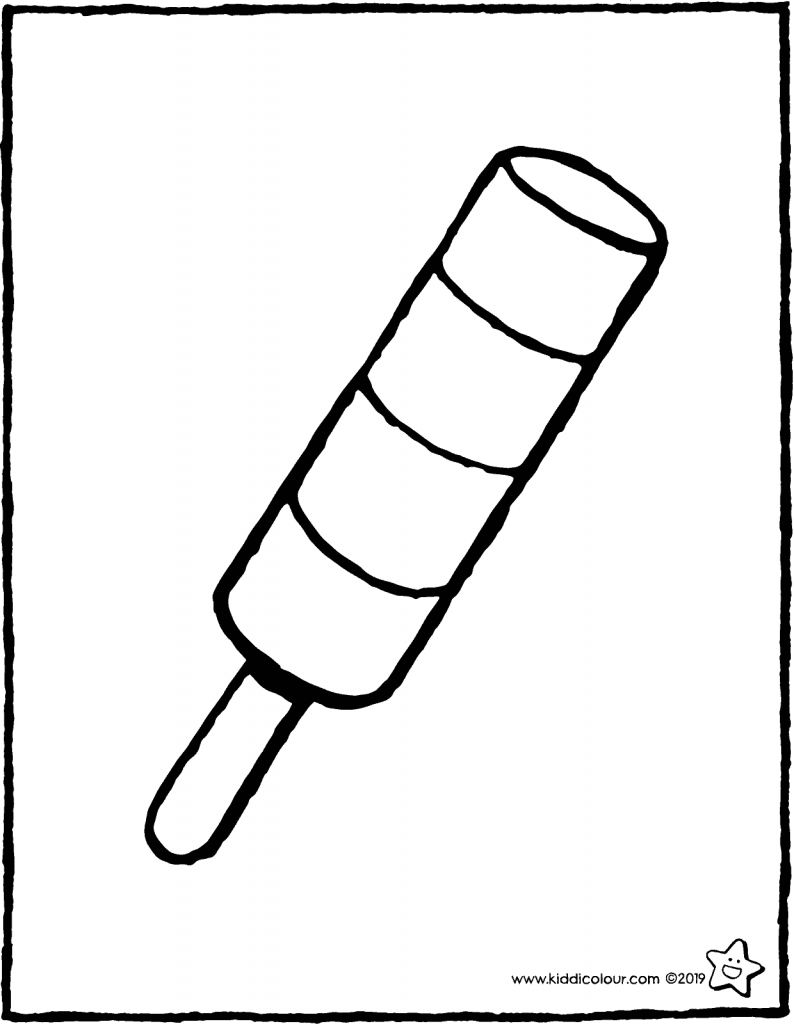 ice lolly colouring page drawing picture 01V