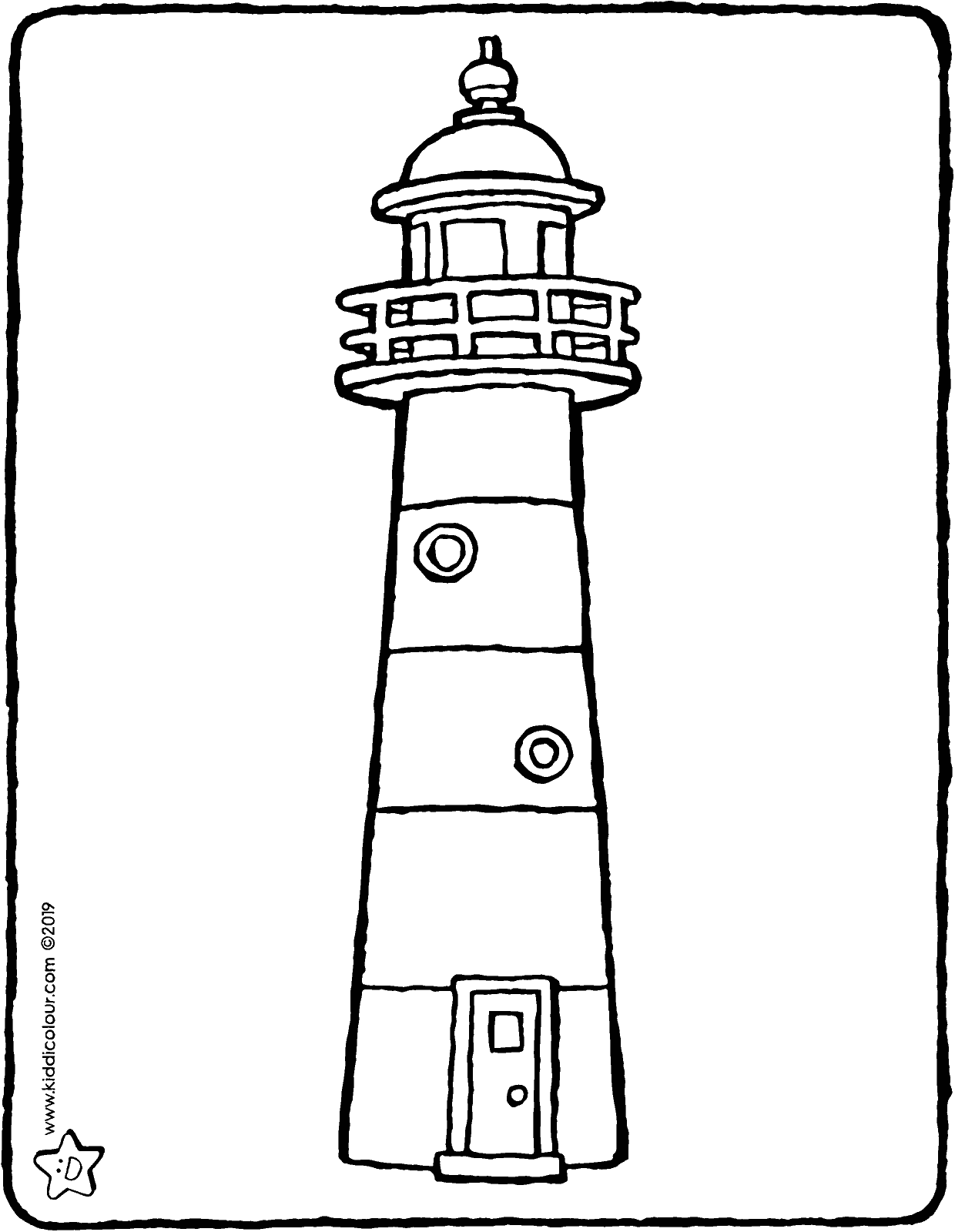 lighthouse colouring page drawing picture 01V