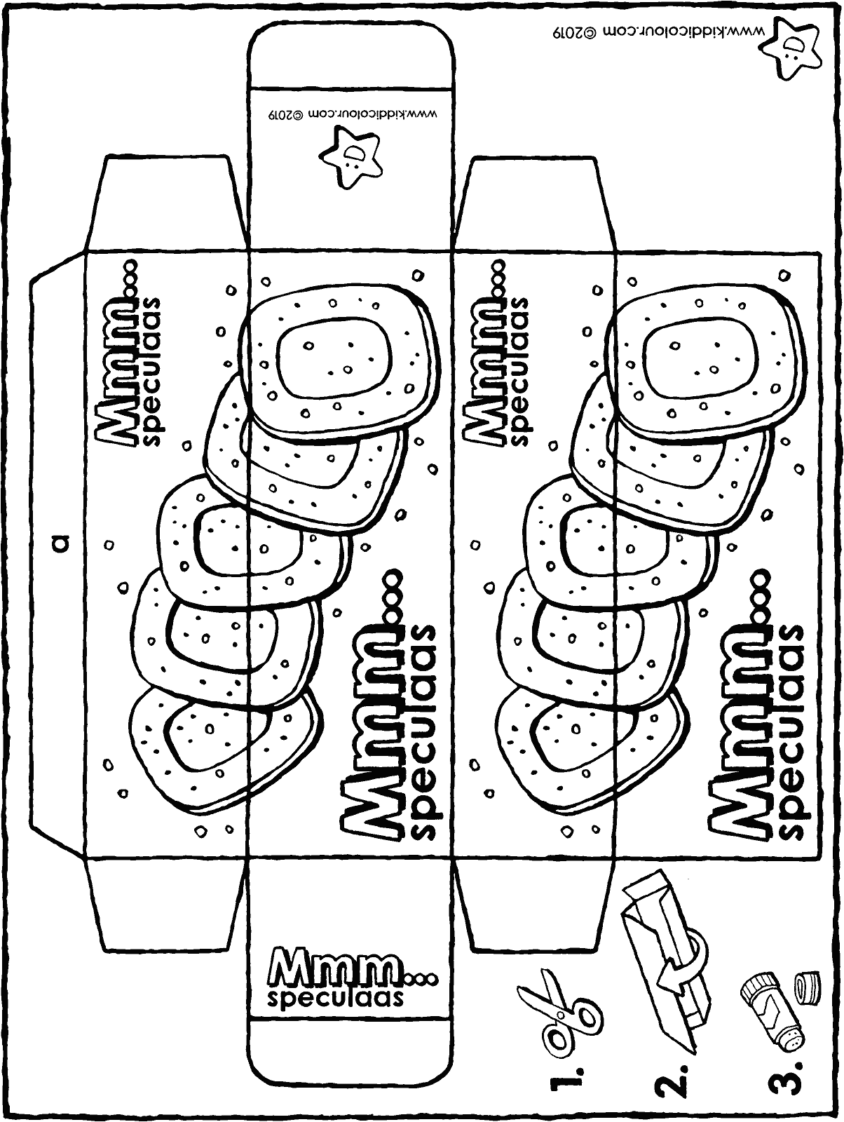 make your own speculaas packet colouring page drawing picture 01H